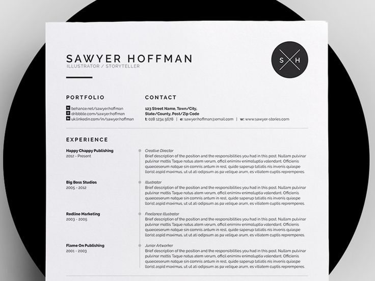 8 Best Resume Images On Pinterest | Cv Design, Design Resume And