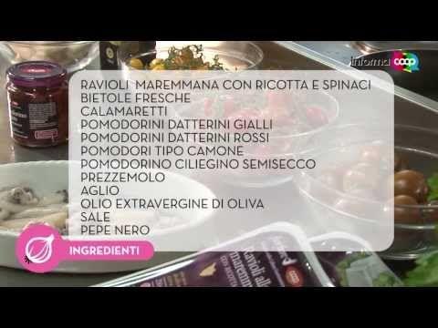 Ravioli maremmana ricotta e spinaci con bietole e calamaretti - Ricetta Laboratorio del gusto