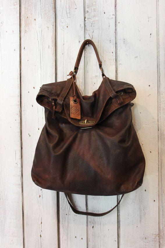 MAIL BAG Messenger Bag pelle di vitello di LaSellerieLimited