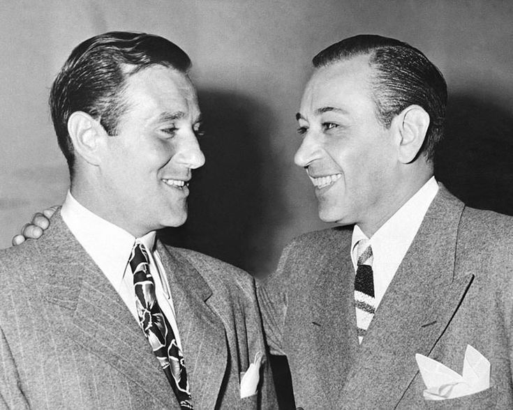 George Raft with Benjamin (Bugsy) Siegel in Court