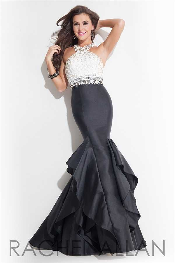 Dazzling Beaded Fitted Ruched Rachel Allan 7068 Mermaid Dresses Outlet