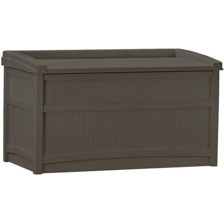 Suncast 50-Gallon Deck Box with Seat, Java
