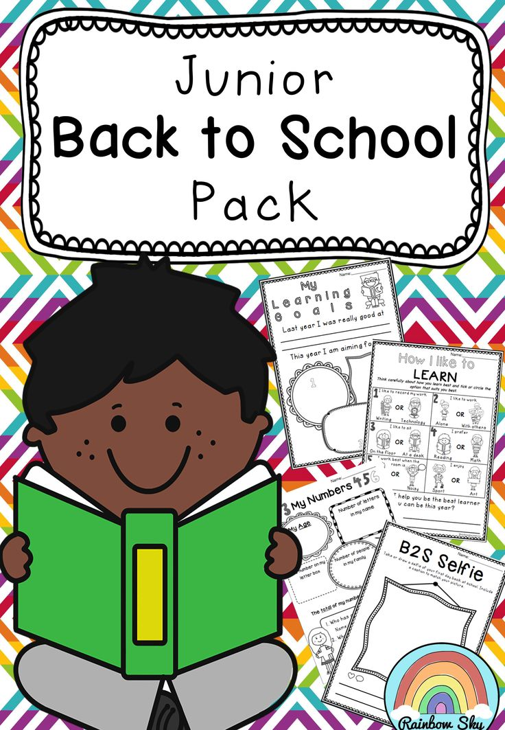Junior Back to school pack for Year 1-2. Up to 15 literacy and numeracy activities to help you to get to know your class better. ~ Rainbow Sky Creations ~