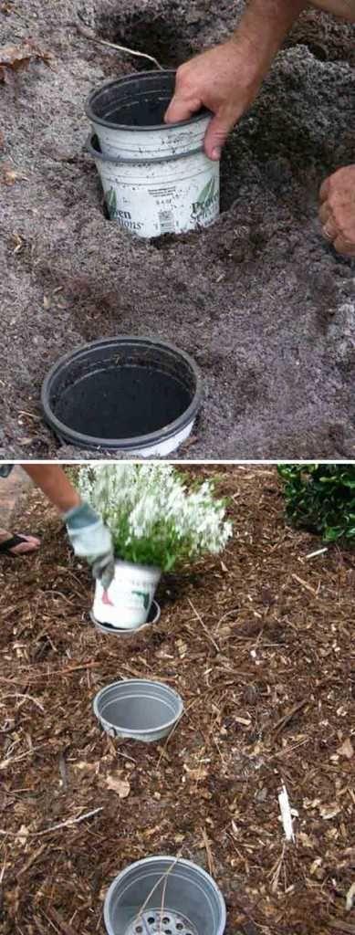 Astuce pour changer les pots de fleurs de places facilement