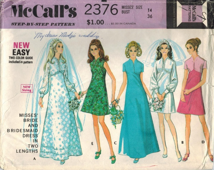 1970s McCall's 2376 Vintage Sewing Pattern - this is the