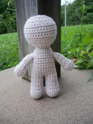 Crochet Dolls - use this pattern for the body and the ideas for hair, face and clothing are endless by autumn
