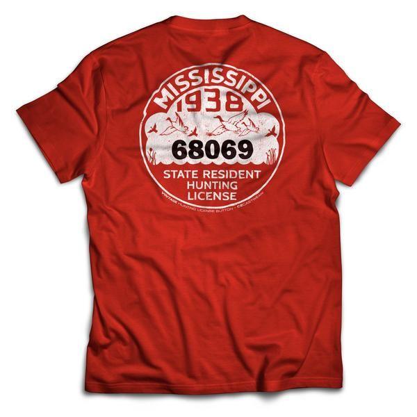 1938 MS Hunting License T-Shirt