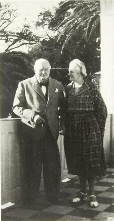 Churchill and wife