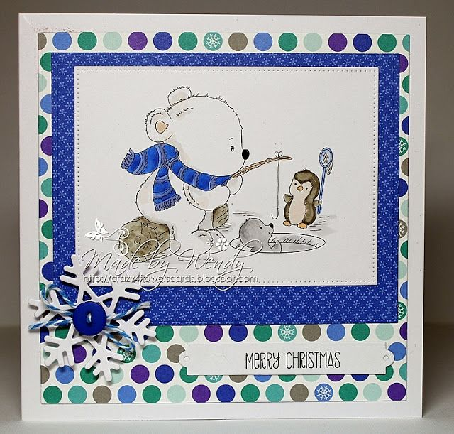 Crazy4flowers cards: Di's Digi Stamps - Ice Fishing Buddies