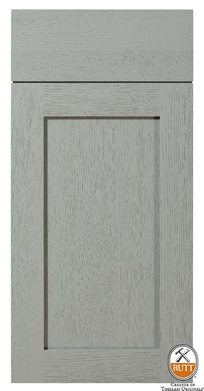 Enfield Door Design  Sabre Gray Paint  Rift Cut White