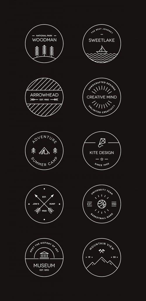 Free Circle Logos | Minimal Logos | hipster logos