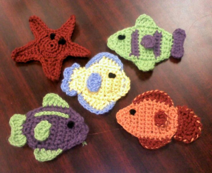 16 best fondo mar images on Pinterest   Apliques de crochet, Motivo ...