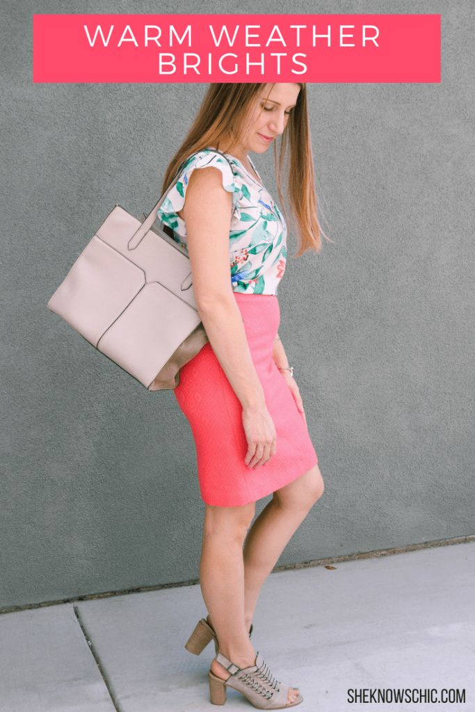 coral skirt outfit, summer outfit, what to wear with a coral skirt, coral pencil skirt, summer work outfit, teacher outfit, spring work outfit, work outfit for women