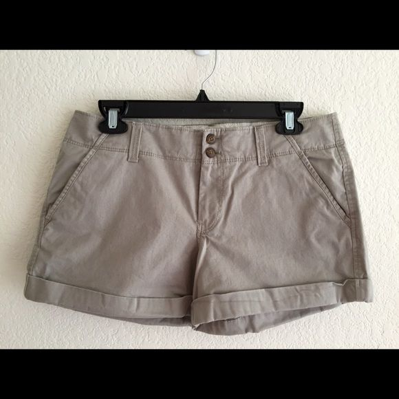 Old Navy Shorts. Size 8. Old Navy shorts in darker khaki color. Perfect length because they're not too short but not long either. Never worn! Old Navy Shorts
