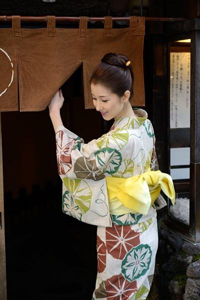 Yukata 2012年新作:紬(玉虫)ゆかた:竺仙