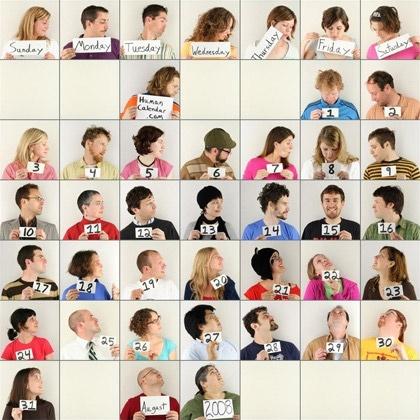 The Unique Human Calendar Design