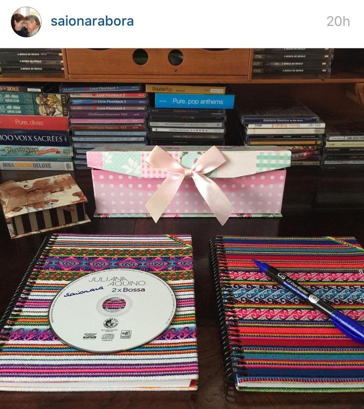 Cadernos cd organização decoração bolivia