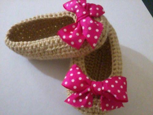 Zapatitos para niña de tejido - Imagui
