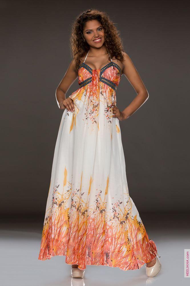 Robes longues women orange size 36, online buy Robes longues woman MODATOI