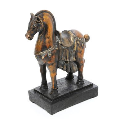 tang horse sculptures | Design Toscano 2 Piece Classical Horse Study Sculpture | Wayfair