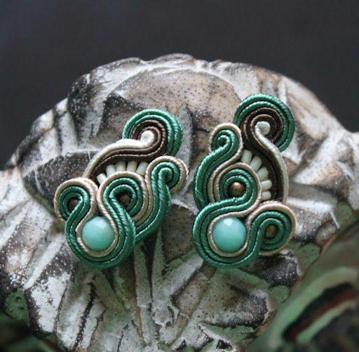 Verde soutache earrings