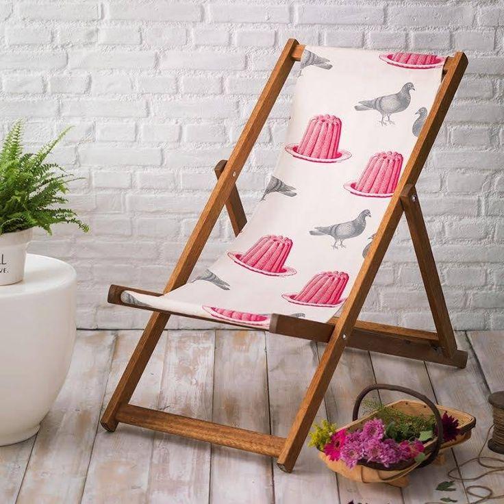 hand printed deckchair by thornback & peel   notonthehighstreet.com