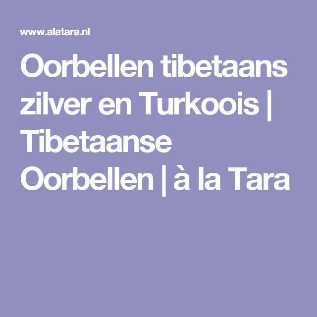 Oorbellen tibetaans zilver en Turkoois | Tibetaanse Oorbellen | à la Tara