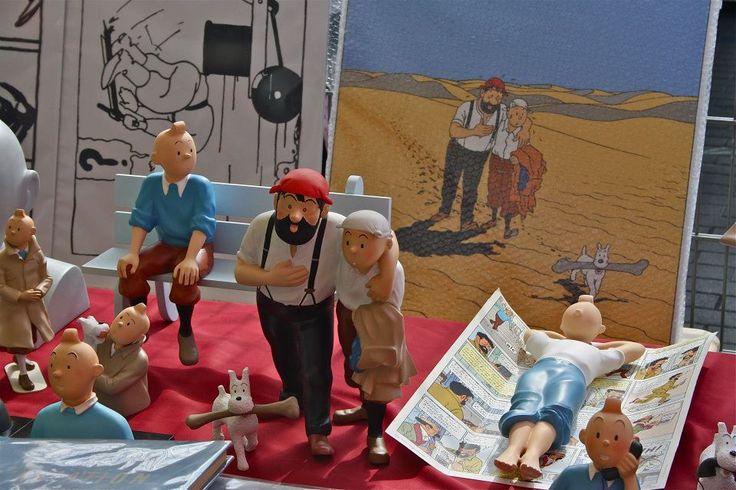 Tintin at the flea market..