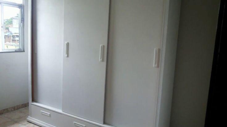 Laqueado Branco em guarda roupa - Barra Mansa - RJ - YouTube