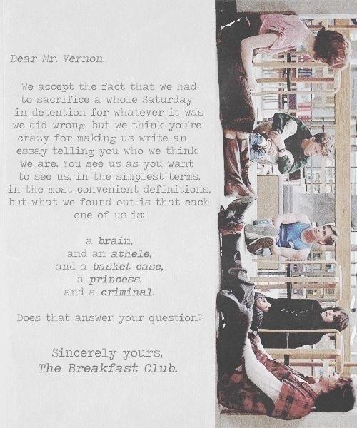 breakfast club essay movie