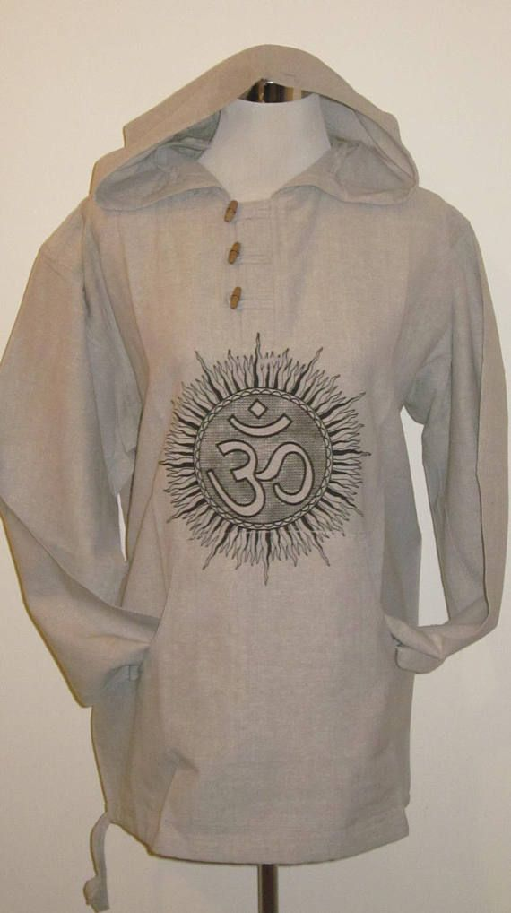 OM  Unisex Cotton Hooded Top
