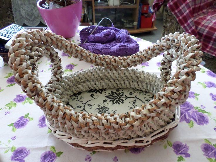 Papírfonással saját munka - paper weaving, my own work