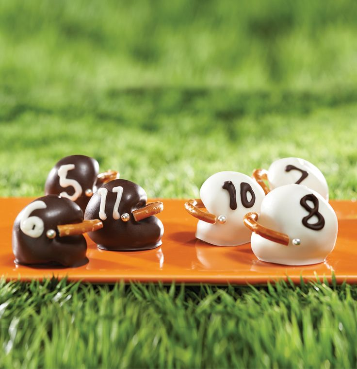 Football helmet shaped OREO cookie balls will surely be a sideline favorite at every game whether you're hosting or tailgating.