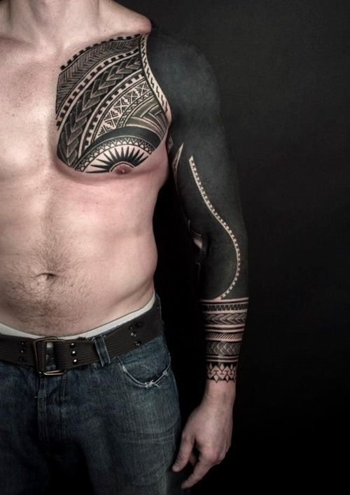 Heavy Black Tattoo Cover Up: 23 Best Black Sleeve Tattoos Images On Pinterest