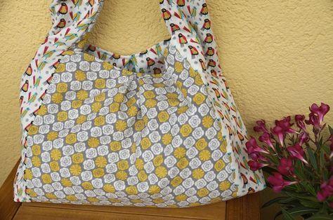 Heute im Blog: Ein Tutorial für eine geräumige Wendetasche, die sich hervorragend für den Strand, als Shopper oder als Markttasche eignet.