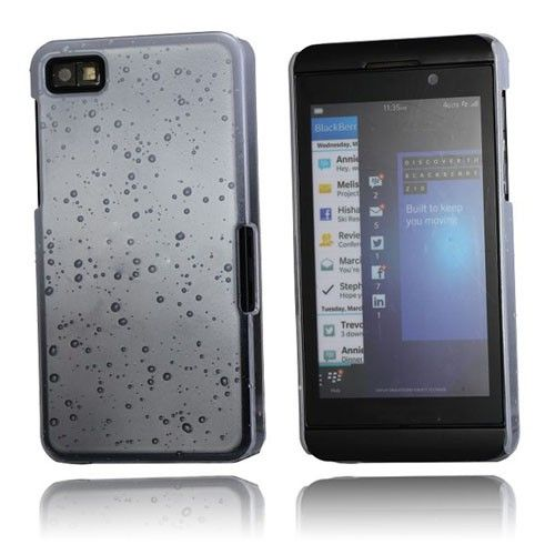 Raindrops (Hvid) Blackberry Z10 Cover