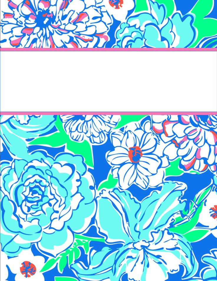 lilly pulitzer binder cover template