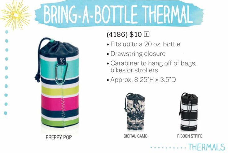 Bring-a-Bottle thermal #thirtyonegifts, keeps heat or cold inside your drink longer!