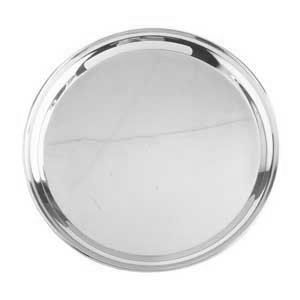 "16"" Round Stainless Steel Catering Tray / Platter"