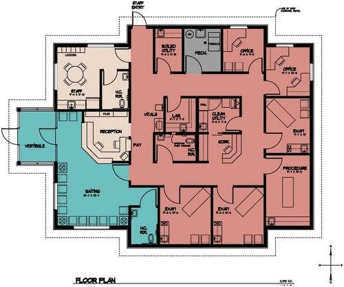Physical Therapy Floor Plan Center