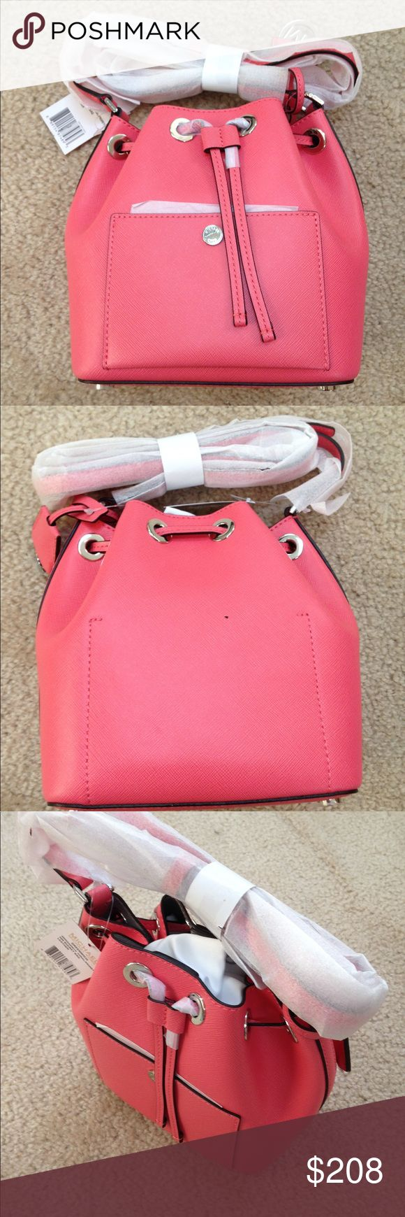 Michael Kors Greenwich small bucket bag in Coral Michael Kors Greenwich small bucket bag in Coral, brand new with tags and original packaging, style number 30H5SGRM1U. MICHAEL Michael Kors Bags Satchels