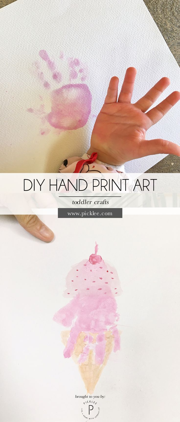 looklacquered furniture inspriation picklee. diy hand print art , an ice cream cone print! best toddler craft ever looklacquered furniture inspriation picklee
