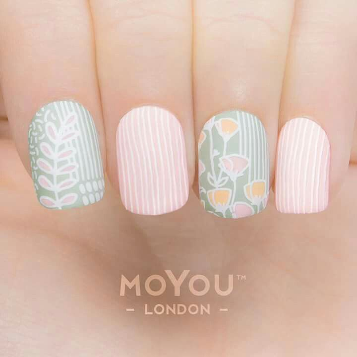 MoYou Trend Hunter collection. Stamping with white