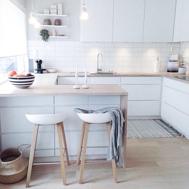 116 best Cuisine images on Pinterest Kitchen ideas, Kitchen - espace entre plan de travail et meuble haut