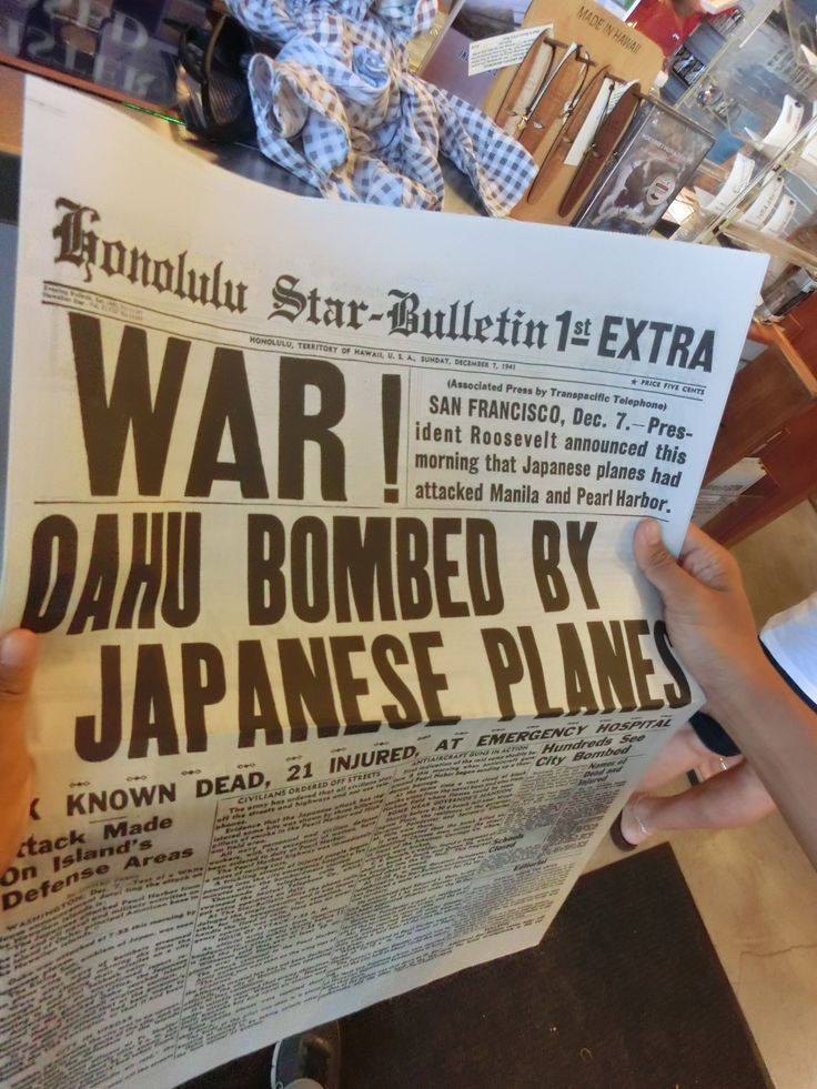 Our newspaper souvenir from the Pearl Harbor gift shop.