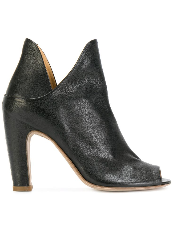 OFFICINE CREATIVE | open toe notched detail ankle boots #Shoes #OFFICINE CREATIVE