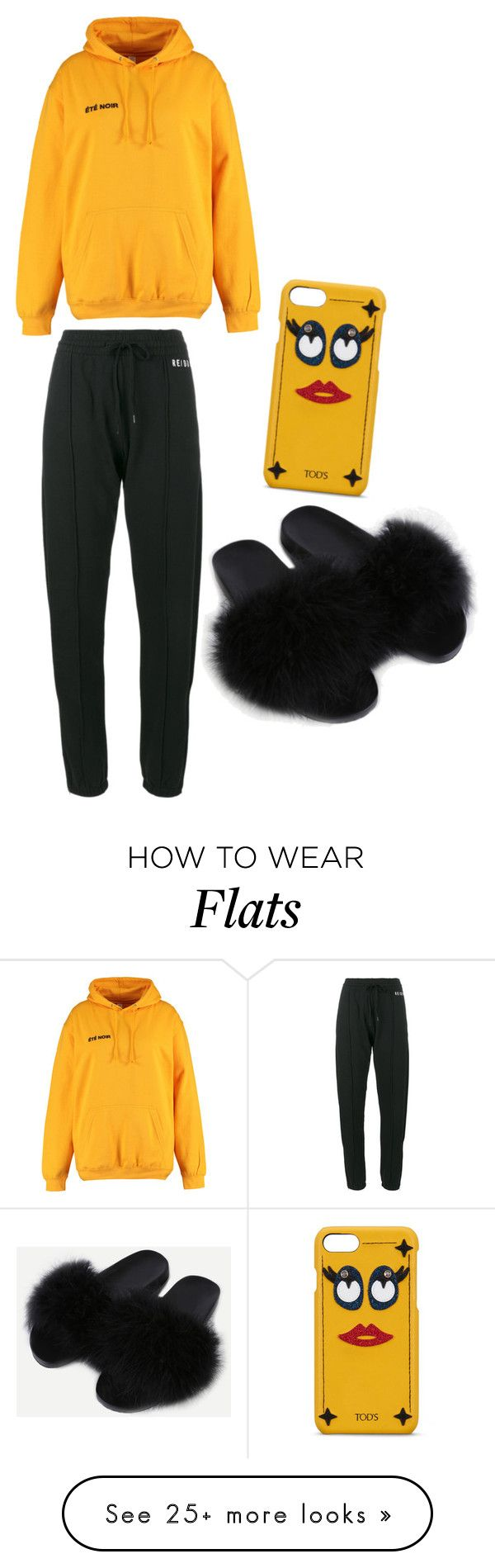 """""""No mood"""" by shanoyab on Polyvore featuring Été Swim, RE/DONE, WithChic and Tod's"""