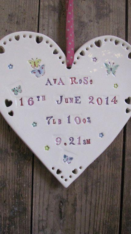 Jamali-Annay new baby ceramic heart gift