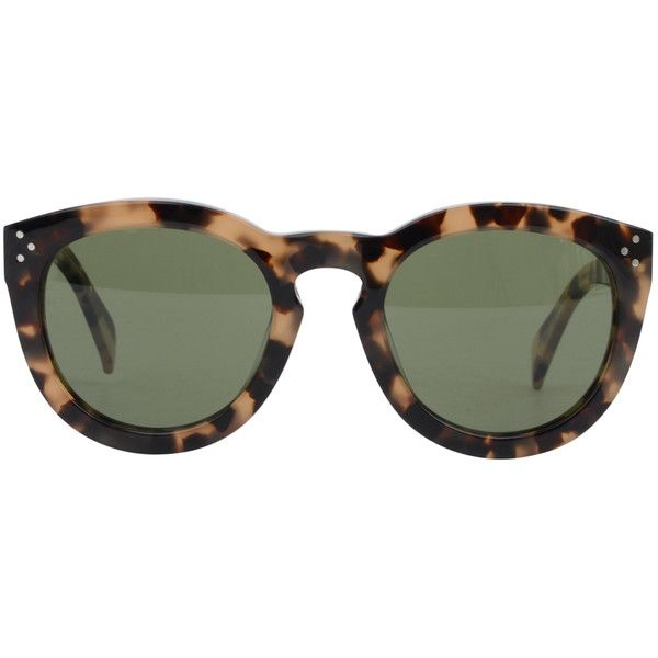 CELINE Large Rounded Keyhole Sunglasses ($355) ❤ liked on Polyvore
