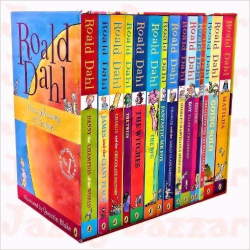 Roald Dahl 15 Book Box Set (Slipcase) Includes Matilda, Witches, The Twits, Fantastic Mr Fox, Charlie & the Chocolate Factory, Georges Marvellous Medicine, The BFG, Danny the Champion of the World....: Amazon.co.uk: Roald Dahl: 9780140926521: Books